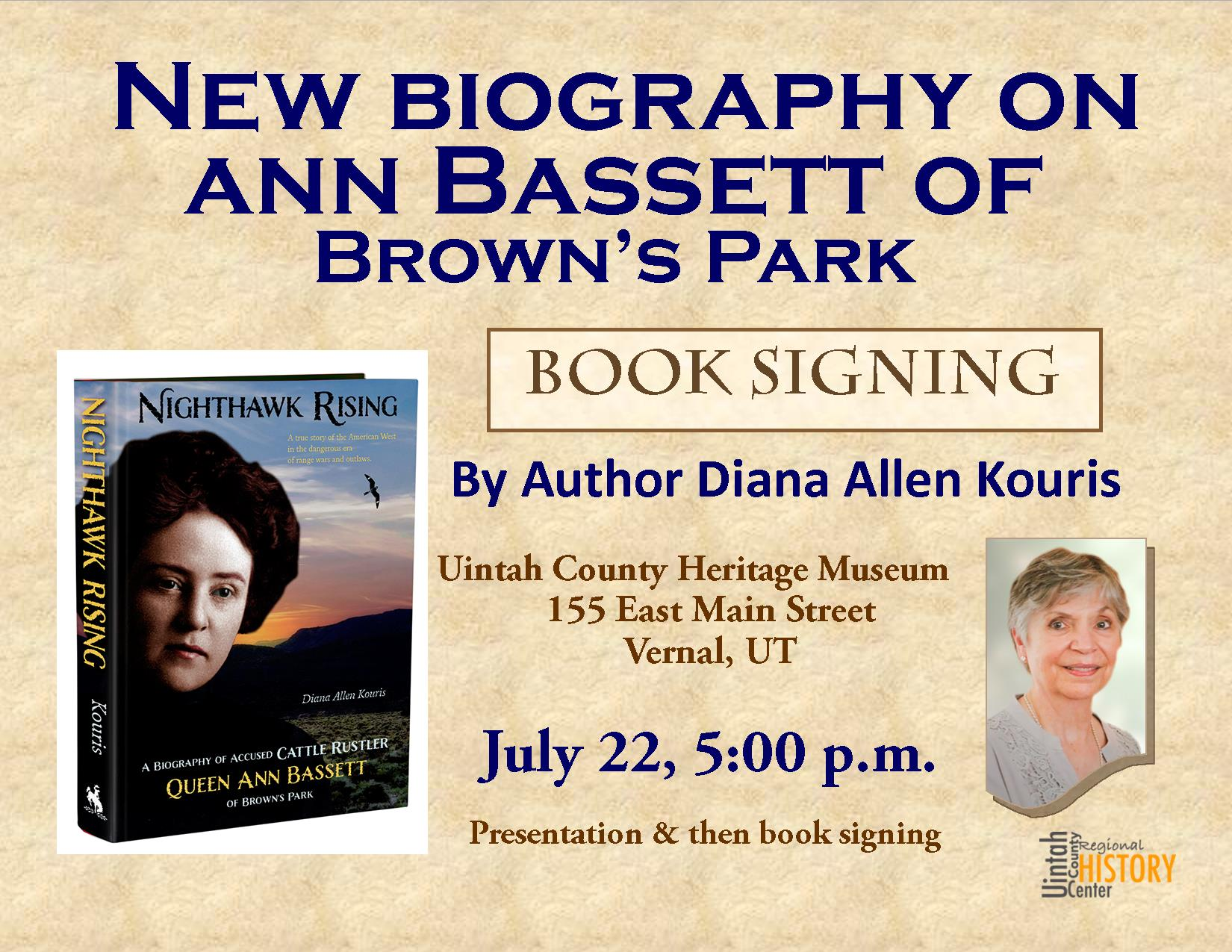 Diana Kouris Book Signing brown blue